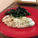 Tilapia with Kale and Lemon Pepper Oil