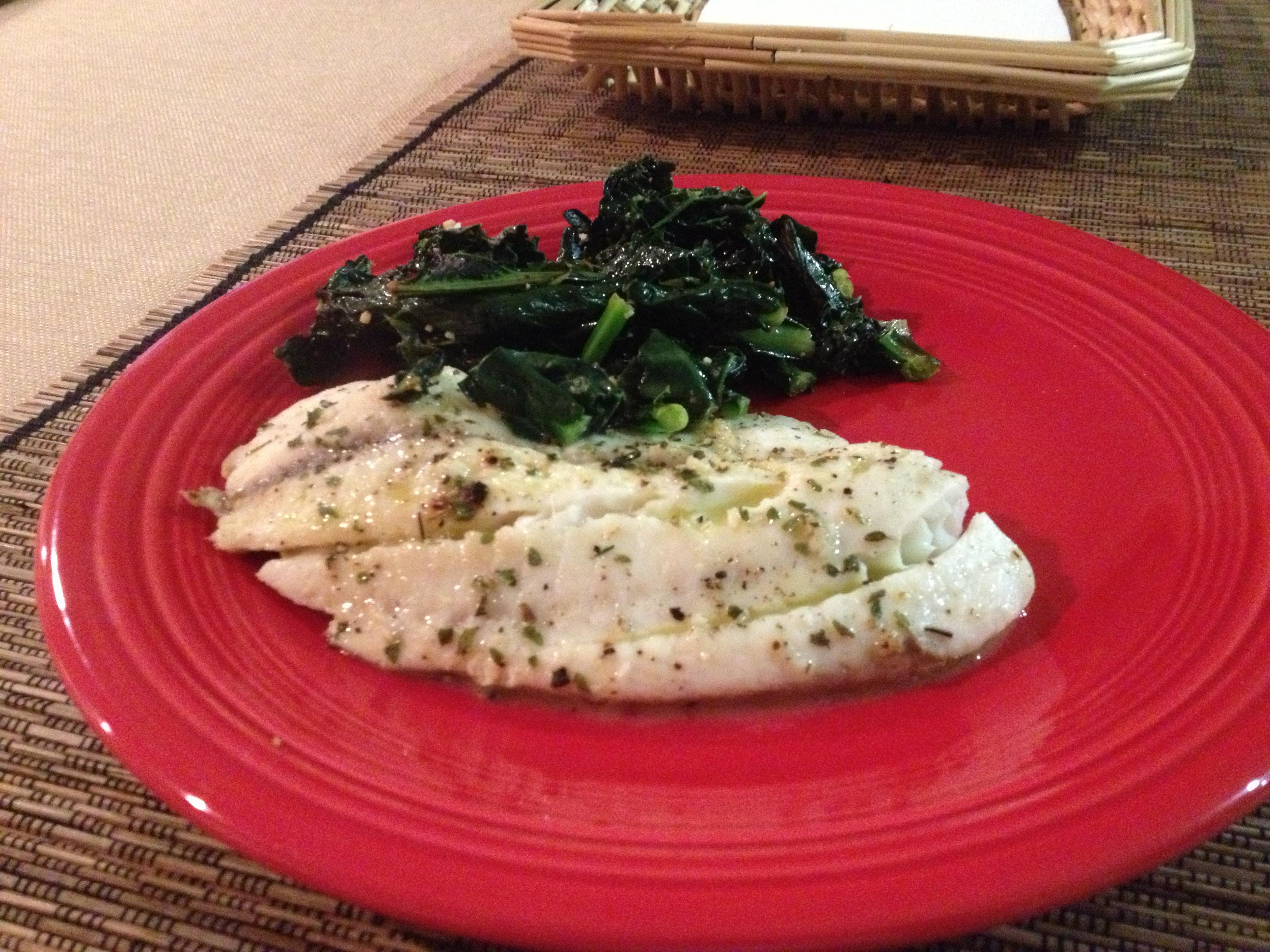 Tilapia, kale, paleo recipes, paleo blog