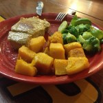 Quick Paleo Meal, Pork chops, steamed brussels sprouts, butternut squash, Paleo Recipes